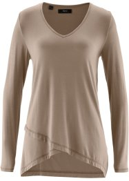 Shirt in Doppeloptik, bpc bonprix collection, taupe