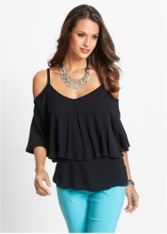 Off-Shoulder Shirt, bpc selection, schwarz