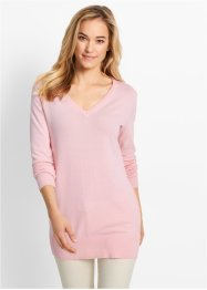 Basic Feinstrick-Pullover, bpc bonprix collection, perlrosa