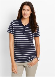 Poloshirt mit 1/2-Arm, bpc bonprix collection, dunkelblau/weiß gestreift