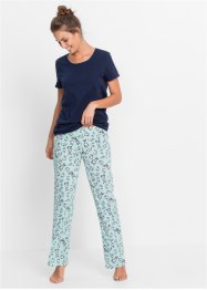 Pyjama, bpc bonprix collection, dunkelblau bedruckt