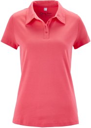 Basic Baumwollshirt Rib-Jersey, bpc bonprix collection, hellpink