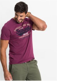 T-Shirt Regular Fit, bpc bonprix collection, beere meliert