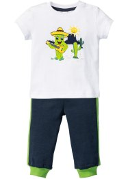 Baby T-Shirt + Sweathose (2-tlg.) Bio-Baumwolle, bpc bonprix collection