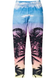 Leggings mit Palmendruck, bpc bonprix collection, blau bedruckt
