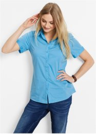 Kurzarm-Stretchbluse, bpc bonprix collection