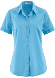 Kurzarm-Stretchbluse, bpc bonprix collection, lichtblau