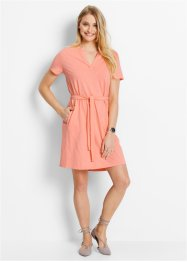 Halbarm-Jerseykleid, bpc bonprix collection, lachsrosa