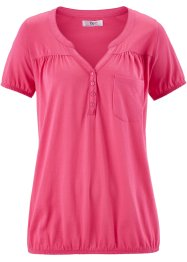 Kurzarm-Shirtbluse, bpc bonprix collection, pink