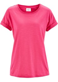 Kurzarm-Boxyshirt, bpc bonprix collection, pink
