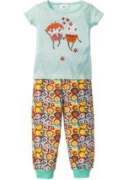 Pyjama (2-tlg. Set), bpc bonprix collection, mint/bunt bedruckt