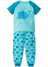 Pyjama (2-tlg. Set), bpc bonprix collection, aqua/türkis