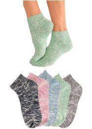 Arizona Damenkurzsocken (5er-Pack), Arizona, bunt
