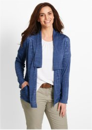 Langarm-Shirtjacke, bpc bonprix collection, indigo used