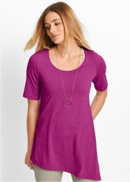 Halbarm-Zipfelshirt, bpc bonprix collection, violettorchidee