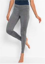 Lange Seamless-Sport-Leggings, bpc bonprix collection, rauchgrau meliert