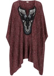 Poncho, BODYFLIRT boutique, rot meliert