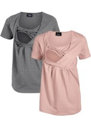 Umstandsshirts mit Stillfunktion, 2er Pack, bpc bonprix collection