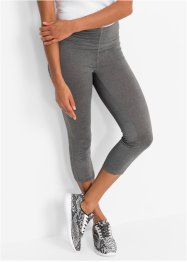 Seamless 3/4-Sport-Leggings, bpc bonprix collection, rauchgrau meliert
