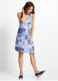 Stretch-Kleid, bpc bonprix collection, perlblau bedruckt