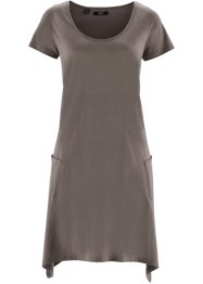 Flammgarn-Shirtkleid mit Kurzarm, bpc bonprix collection, mittelbraun