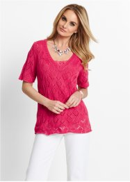 Ajour-Pullover, bpc selection, hibiskuspink