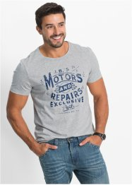 T-Shirt im Regular Fit, John Baner JEANSWEAR, indigo