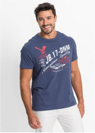 T-Shirt mit Druck Regular Fit, John Baner JEANSWEAR, indigo