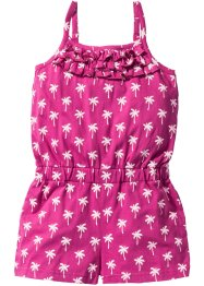 Jumpsuit gemustert, bpc bonprix collection, mittelfuchsia