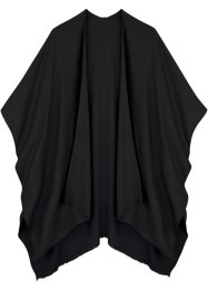Leichter Poncho, bpc bonprix collection, schwarz