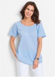 Kurzarmshirt, bpc bonprix collection, puderblau