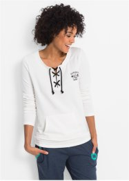 Leichtes Langarm-Sweatshirt zum Binden, bpc bonprix collection