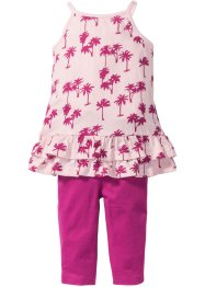 Kleid mit Volants + 3/4-Leggings (2-tlg.), bpc bonprix collection