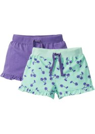 Jerseyshorts mit Rüschen (2er-Pack), bpc bonprix collection