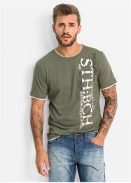 T-Shirt im Slim Fit, RAINBOW, oliv