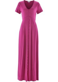 Maxi-Shirt-Kleid, Kurzarm, bpc bonprix collection, mittelfuchsia