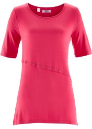 Shirt in Lagenoptik, bpc bonprix collection, hibiskuspink