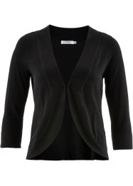 Strick-Bolero mit Halbarm, bpc bonprix collection, schwarz