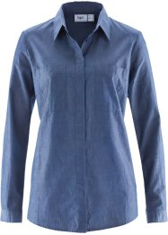 Langarm-Bluse, bpc bonprix collection, indigo
