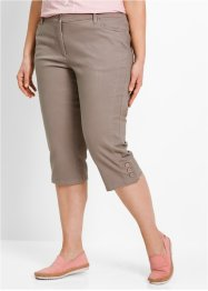 Basic Baumwollhose Lycra Twill, bpc bonprix collection, taupe