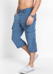 3/4-Freizeithose Loose Fit, bpc bonprix collection, jeansblau