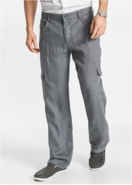 Leinen-Cargohose mit Turn-Up im Regular Fit, bpc bonprix collection