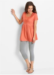 Shirt-Tunika + 3/4-Leggings (2-tlg.), bpc bonprix collection, lachs