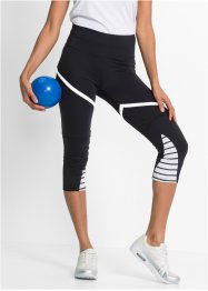 Sport-Leggings in 3/4-Länge, bpc bonprix collection, schwarz