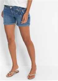 Shorts mit Blumen, BODYFLIRT, lightblue bleached