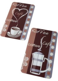 Herdabdeckplatten mit Kaffee-Motiv (2er Pack), bpc living bonprix collection