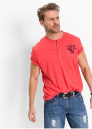 T-Shirt mit Knopfleiste Regular Fit, John Baner JEANSWEAR
