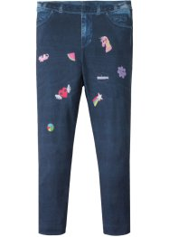 Leggings in Denimoptik mit Badgedruck, bpc bonprix collection
