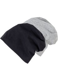 2er-Pack Beanie aus Jersey, bpc bonprix collection