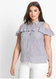 Cold-Shoulder-Bluse mit Volant, BODYFLIRT
